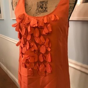 Super cute vibrant sleeveless J.Crew top/silk. S2